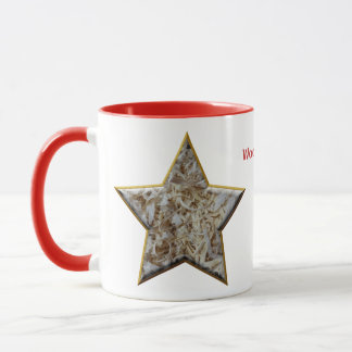 Wood Chips Star Personalized Gift for Woodworkers Mug