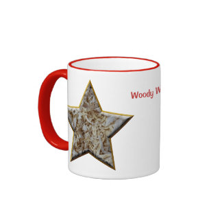 Wood Chips Star Personalized Gift for Woodworkers Ringer Mug