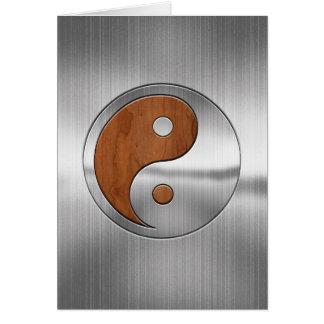 Wood Chrome Yang Card
