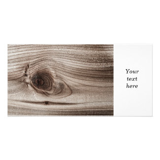 Wood closeup with knot card