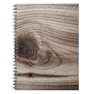 Wood closeup with knot spiral notebook