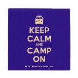 [Campervan] keep calm and camp on  Wood Coaster