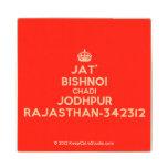 [Crown] jat' bishnoi chadi jodhpur rajasthan-342312  Wood Coaster