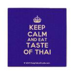 [Crown] keep calm and eat taste of thai  Wood Coaster
