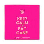 [Cupcake] keep calm and eat cake  Wood Coaster