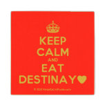 [Crown] keep calm and eat destinay♥  Wood Coaster