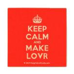 [Crown] keep calm and make lovr  Wood Coaster