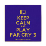 [Computer] keep calm and play far cry 3  Wood Coaster