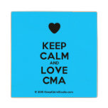 [Love heart] keep calm and love cma  Wood Coaster
