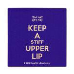 [UK Flag] keep a stiff upper lip  Wood Coaster