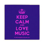 [Dancing crown] keep calm and love music  Wood Coaster