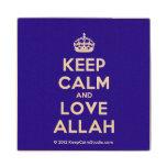 [Crown] keep calm and love allah  Wood Coaster