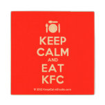 [Cutlery and plate] keep calm and eat kfc  Wood Coaster