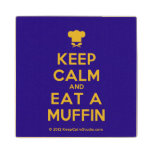 [Chef hat] keep calm and eat a muffin  Wood Coaster