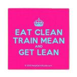 [Crown] eat clean train mean and get lean  Wood Coaster