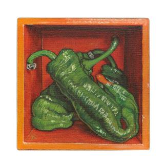 Wood Coaster- Guernica pepper Wooden Coaster