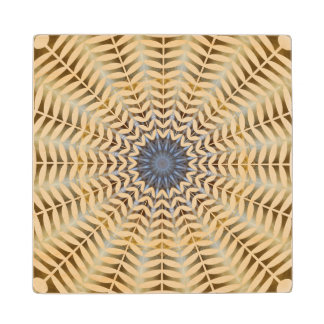 Wood Coaster with Sea Shell Design