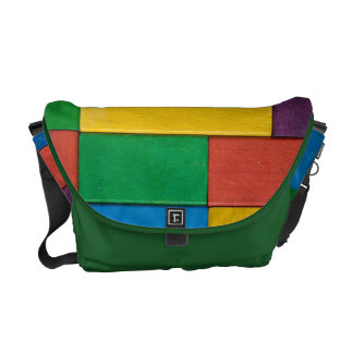 Wood,colorful,building blocks,kids,fun,happy,retro courier bag