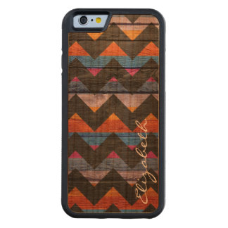 Wood Colorful Chevron Stripes #20 Carved® Cherry iPhone 6 Bumper Case
