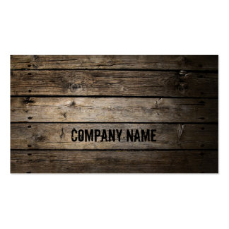 Wood Company Business Card