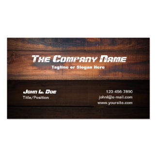 Wood Construction Double-Sided Standard Business Cards (Pack Of 100)