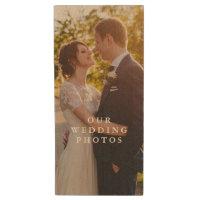 Wood Couples Photo Flash Drive