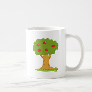 Wood Covered With Red Apples Coffee Mug
