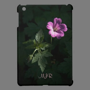 Wood Cranes Bill, Woodland Flowers in Pink Case For The iPad Mini