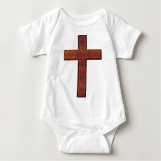 Wood Cross Glyph Baby Bodysuit