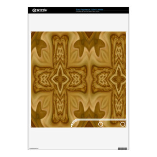 Wood Cross Pattern Decals For PS3 Slim