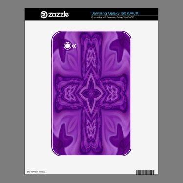 Wood Cross Pattern Samsung Galaxy Tab - Customized Samsung Galaxy Tab Decal