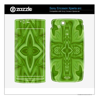 Wood Cross Pattern Xperia Arc Skins - Customized