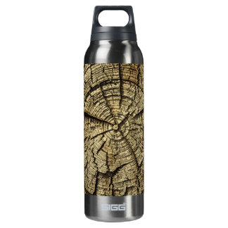 Wood Cross Section 16 Oz Insulated SIGG Thermos Water Bottle