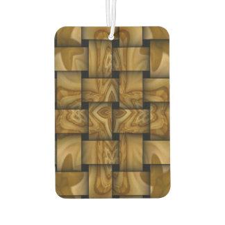 Wood cross weave pattern air freshener
