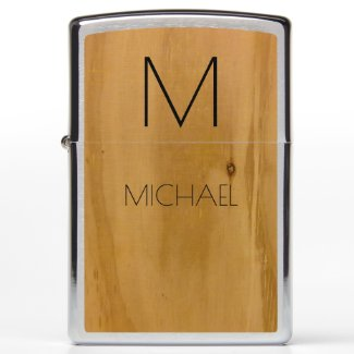 wood custom name and initial (monogram) elegant