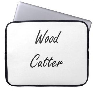 Wood Cutter Artistic Job Design Laptop Sleeves