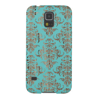 Wood damask pattern vintage rustic chic chandelier galaxy s5 cover