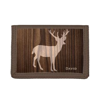 Wood Deer Custom Wallet