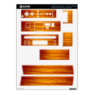 Wood Design Decal For Nintendo Wii