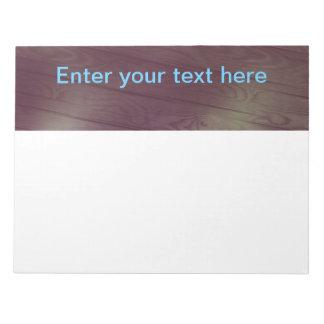 Wood design & template text notepad