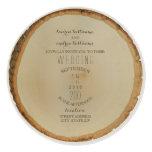 Wood Disc Inspired Circle Wedding Invitation