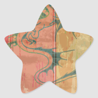 Wood Dragon 4 Star Sticker