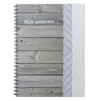 Wood dream spiral notebooks