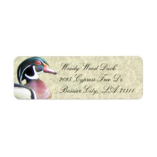 Wood Duck Address Labels