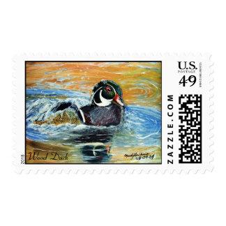 Wood Duck Art Print Stamp