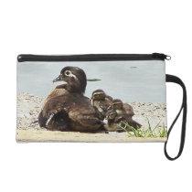 Wood Duck Birds Family Wildlife Animals Pond Bag