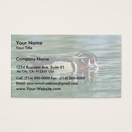 Wood Duck (Drake) Business Card