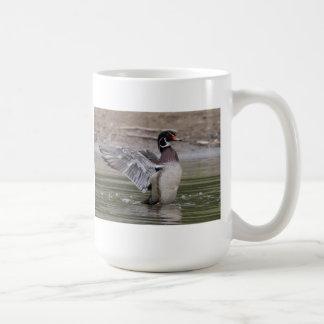 Wood Duck Flapping His Wings Coffee Mug
