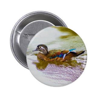 Wood Duck Hen Button