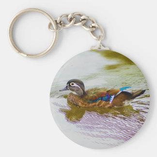 Wood Duck Hen Keychain